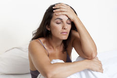 Woman Suffering From Headache Royalty Free Stock Images
