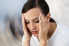 Free Woman Suffering From Headache Dizziness Royalty Free Stock Image - 182250826