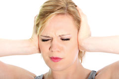 Woman suffering from a headache Stock Photos