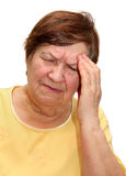 Woman suffering from a headache Royalty Free Stock Photography