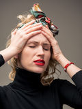 Woman suffering from headache Royalty Free Stock Photo