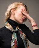 Woman suffering from headache Royalty Free Stock Photography