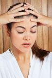 Woman Suffering Headache Stock Image