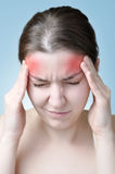 Woman suffering from headache Royalty Free Stock Photos