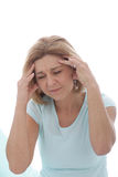 Woman suffering from a migraine Stock Images