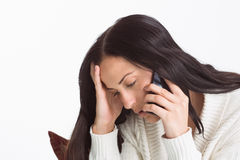 Woman suffering from a migrane Royalty Free Stock Photo