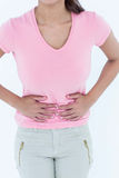 Woman suffering from stomach ache Royalty Free Stock Photo