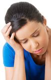 Woman suffering from stress and troubles Royalty Free Stock Photo