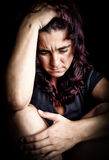 Woman suffering from a strong depression Royalty Free Stock Photo