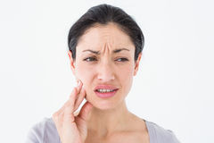 Woman suffering from teeth pain Royalty Free Stock Image