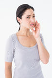 Woman suffering from teeth pain Stock Photo