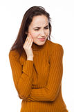 Woman suffering from teeth pain Royalty Free Stock Photography