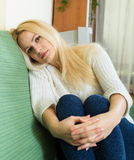 Woman suffering from troubles Stock Photography