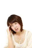 Woman suffers from headache Stock Photography