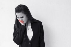 Woman suffers from toothache Royalty Free Stock Images