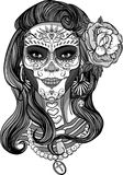 Sugar skull lady Stock Photography