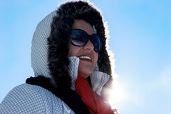 Woman with Suglasses in Winter Royalty Free Stock Images