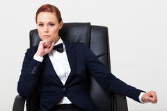 Woman in suit Stock Photo