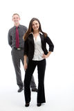 Woman in suit and her business partner Royalty Free Stock Image
