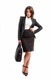 Woman with suitcase royalty free stock images