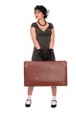 Woman with a suitcase Royalty Free Stock Photography