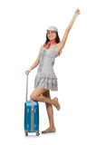 Woman with suitcase Stock Photo
