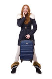 Woman with suitcase Royalty Free Stock Photo