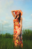 Woman in Summer Stock Photography