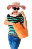 Woman summer bag Royalty Free Stock Image