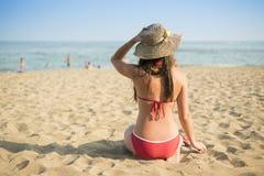 Woman on the summer beach Royalty Free Stock Photos