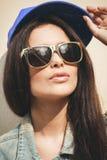 Woman in summer cap Stock Image