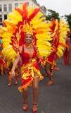 Woman in summer carnival parade 2012 Stock Photos