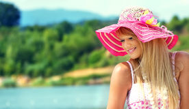 Woman in a summer day Royalty Free Stock Photography