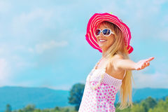 Woman in a summer day Royalty Free Stock Image
