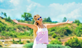 Woman in a summer day Stock Photo