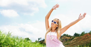 Woman in a summer day Stock Photos