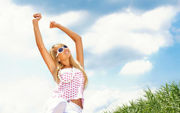 Woman in a summer day Royalty Free Stock Photo