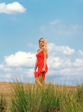 Woman in a summer day Royalty Free Stock Images