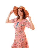 Woman in summer dress Royalty Free Stock Image
