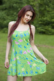 Woman in summer dress Royalty Free Stock Photography
