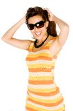 Woman In Summer Dress Royalty Free Stock Photos