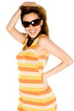 Woman In Summer Dress Stock Images