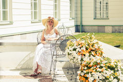 Woman in a summer dress Stock Photography