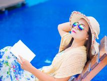 Vacation, beach, summer travel concept royalty free stock image