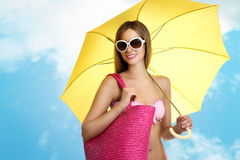 Woman in summer holidays Stock Photography