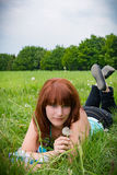 Woman on summer meadow II Royalty Free Stock Photography