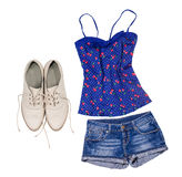 Woman summer outfit Royalty Free Stock Photos