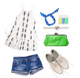 Woman summer outfit Stock Photo
