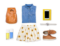 Woman summer outfit Stock Photos