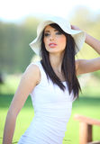 woman in summer park. Stock Photo